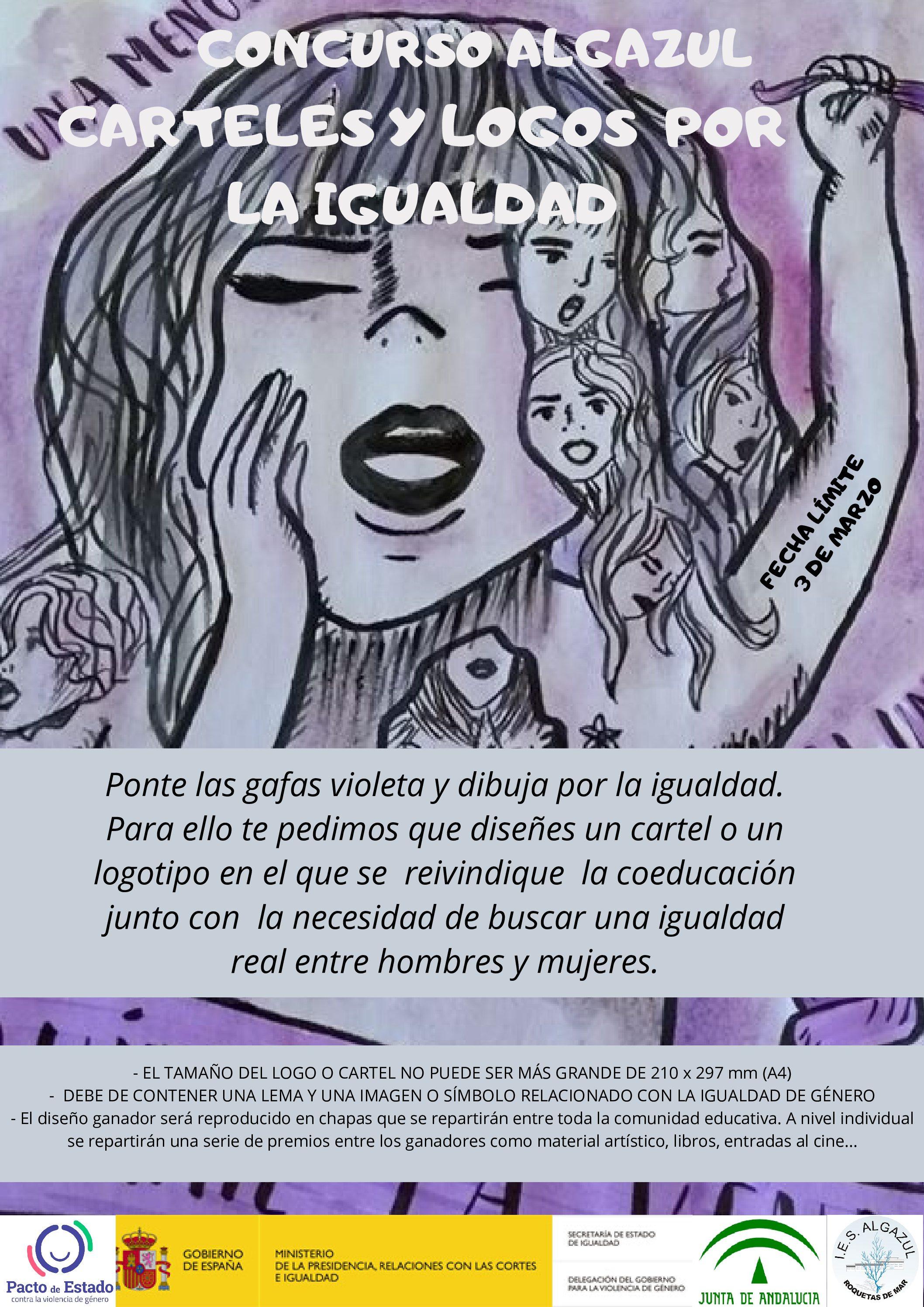 Concurso Algazul carteles y logos por la igualdad